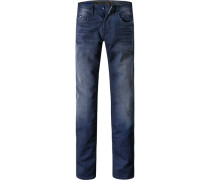 Herren Jeans Slim Fit Baumwoll-Stretch jeansblau