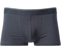 Herren Unterwäsche Trunk Baumwoll-Stretch marine blau