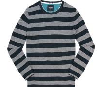 Pullover Baumwolle navy-weiß gestreift