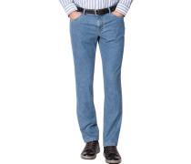 Blue-Jeans Seth Tailored Fit Baumwoll-Stretch jeansblau