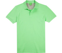 Polo-Shirt Polo, Regular Fit, Baumwoll-Pique, hellgrün