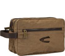 Tasche Beautycase, Microfaser, haselnuss