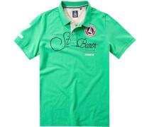 Polo-Shirt Polo Baumwoll-Piqué seegrün