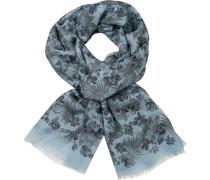 Schal Baumwolle -pastellblau gemustert