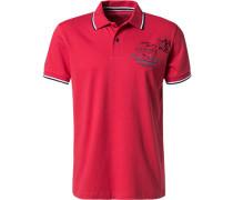 Herren Polo-Shirt Polo Baumwoll-Jersey rot