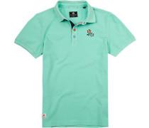 Polo-Shirt Polo Baumwoll-Pique mintgrün
