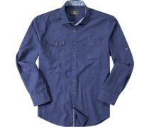 Hemd, Modern Fit, Chambray, navy