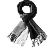 Herren  Schal Wolle schwarz-grau gestreift