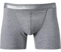 Herren Unterwäsche Trunk Baumwoll-Mix grau meliert