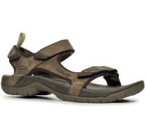 Herren Schuhe Sandale Tanza Leder braun