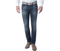 Jeans Modern Fit Baumwoll-Stretch dunkelblau