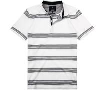 Polo-Shirt Polo Baumwolle mercerisierte -blau gestreift
