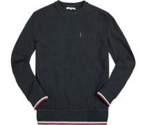 Pullover Sweater, Baumwolle, navy meliert
