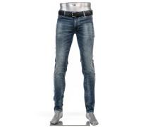Cosy Jeans, Slim Fit, Baumwoll-Stretch, blau