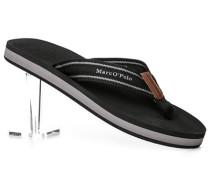 Schuhe Zehensandalen Canvas gestreift