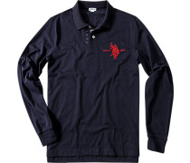 Polo-Shirt Polo Baumwoll-Jersey marine