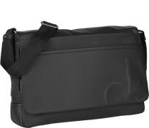 Herren Tasche  Massenger Bag Material-Mix schwarz