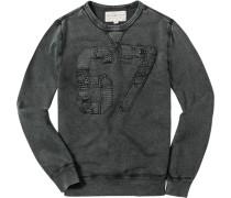 Pullover Sweater Baumwolle dunkelgrau