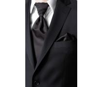 Accessoires Plastron und Einstecktuch Wolle schwarz