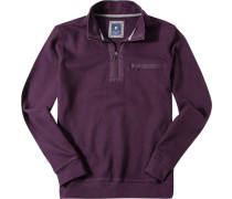 Pullover Troyer, Baumwolle, violett
