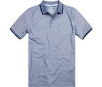 Polo-Shirt Polo Baumwolle navy meliert