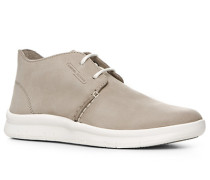 Schuhe Desert Stiefel Veloursleder hellgrau
