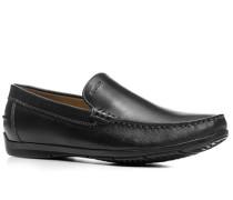 Herren Schuhe Mokassins Glattleder schwarz
