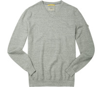 Pullover Pulli, Baumwolle, hellgrau meliert