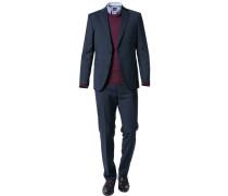 Anzug, Modern Fit, Kaschmir-Schurwolle, nachtblau