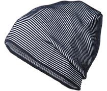 Mütze, Wolle, navy gestreift
