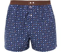 Unterwäsche Boxer-Shorts, Baumwolle, navy gemustert