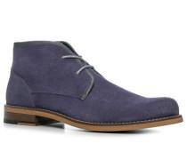 Herren Schuhe Desert Boots Veloursleder blau