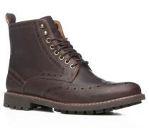 Schuhe Boot Leder dunkelbraun