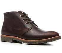 Herren Schuhe Schnürstiefeletten Leder kastanienbraun braun,braun