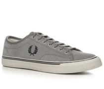 Schuhe Sneaker Veloursleder hellgrau
