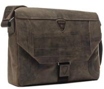 Tasche Messenger Bag Nubukleder dunkelbraun
