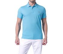 Herren Polo-Shirt Polo Regular Fit Baumwoll-Piqué hellblau