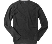 Pullover Wolle anthrazit