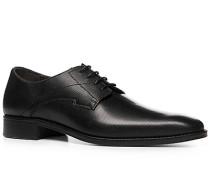 Herren Schnürschuhe Leder schwarz gemustert schwarz,braun