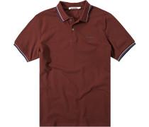 Herren Polo-Shirt Polo Baumwoll-Piqué bordeaux rot