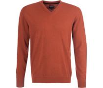 Pullover Kaschmir-Wolle rotbraun