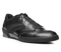 Herren Schuhe ANTON Kalbleder-Textil schwarz