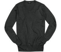 Pullover, Seide-Kaschmir, meliert