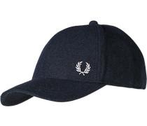 Herren  FRED PERRY Cap Woll-Mix navy meliert blau