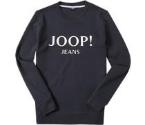 Pullover Sweater Modern Fit Baumwolle navy