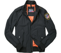 Jacke Blouson Baumwolle navy ,orange