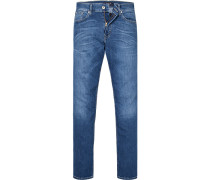 Blue-Jeans, Regular Fit, Baumwoll-Stretch, denim