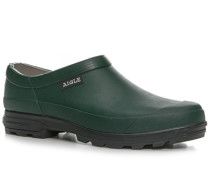 Herren Gummischuhe Naturkautschuk dunkelgrün grün,grau
