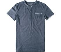 T-Shirt Baumwolle blaugrau meliert