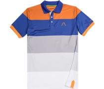 Polo-Shirt Polo Microfaser Drycomfort® -blau gestreift